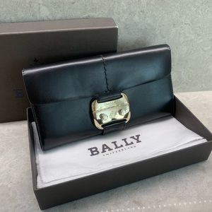 Brand New Bally Black Leather Wallet